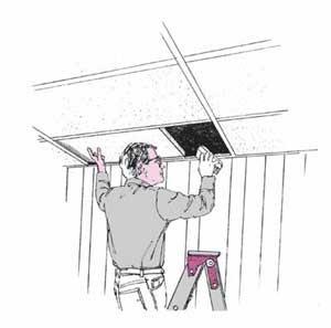 Diseñe un escondite para objetos de valor en un techo acústico.