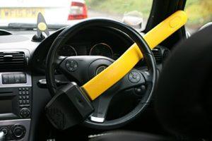 barra antirrobo para volante coche